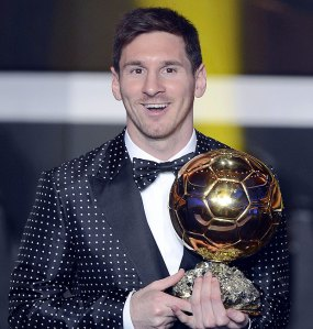 Look at this guy's suit! He looks even more glittery and silly than the Ballon D'or.